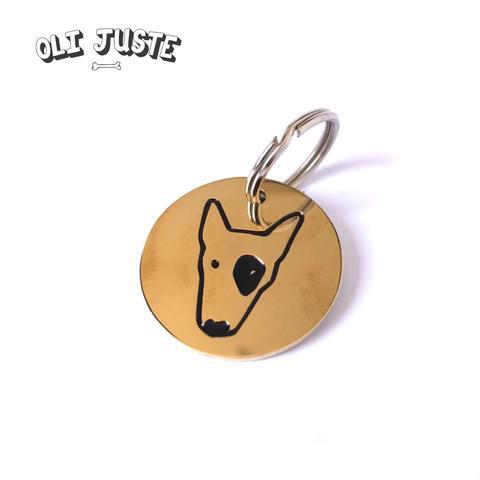 Brass Dog Face Tag - £9.50