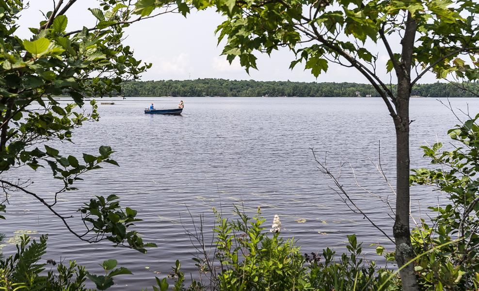 Fishing on Diamond Lake.