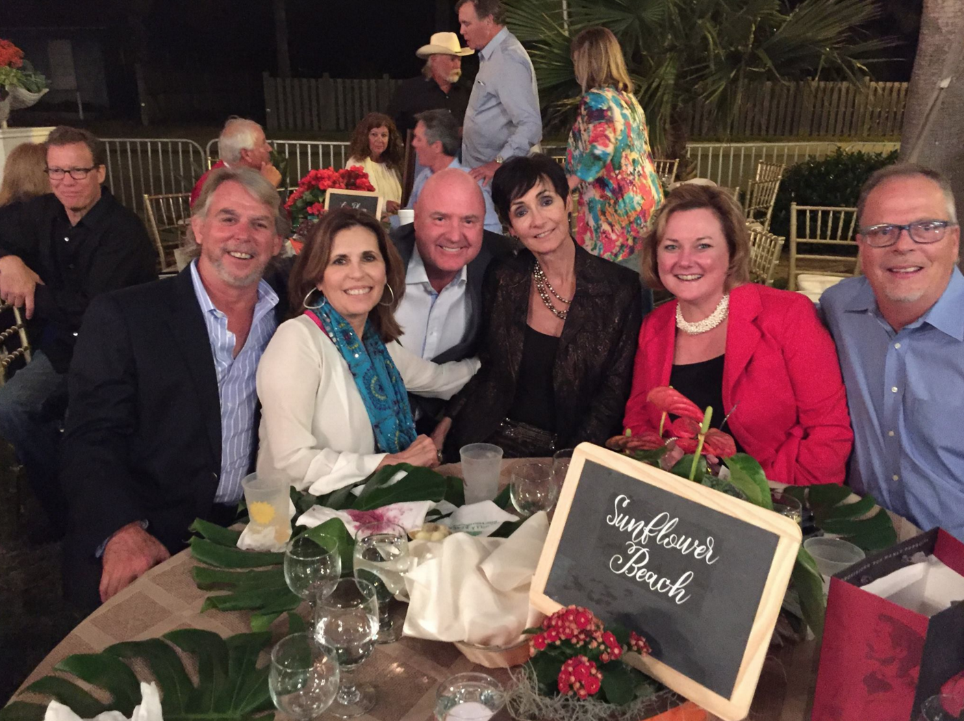 The Sunflower Beach Table at the PAPHA event on March 5, 2016