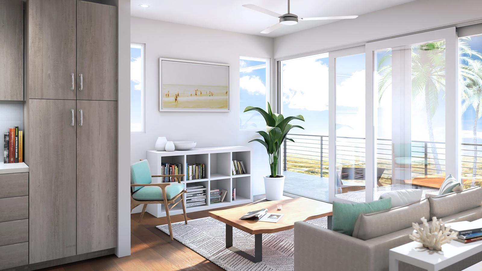 1 Bedroom (Corner) - Scheme: Sand