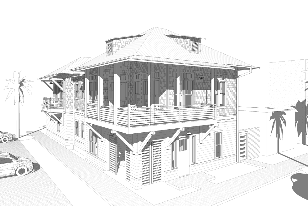 Sketch of future home at 700 Sunrise Ave.