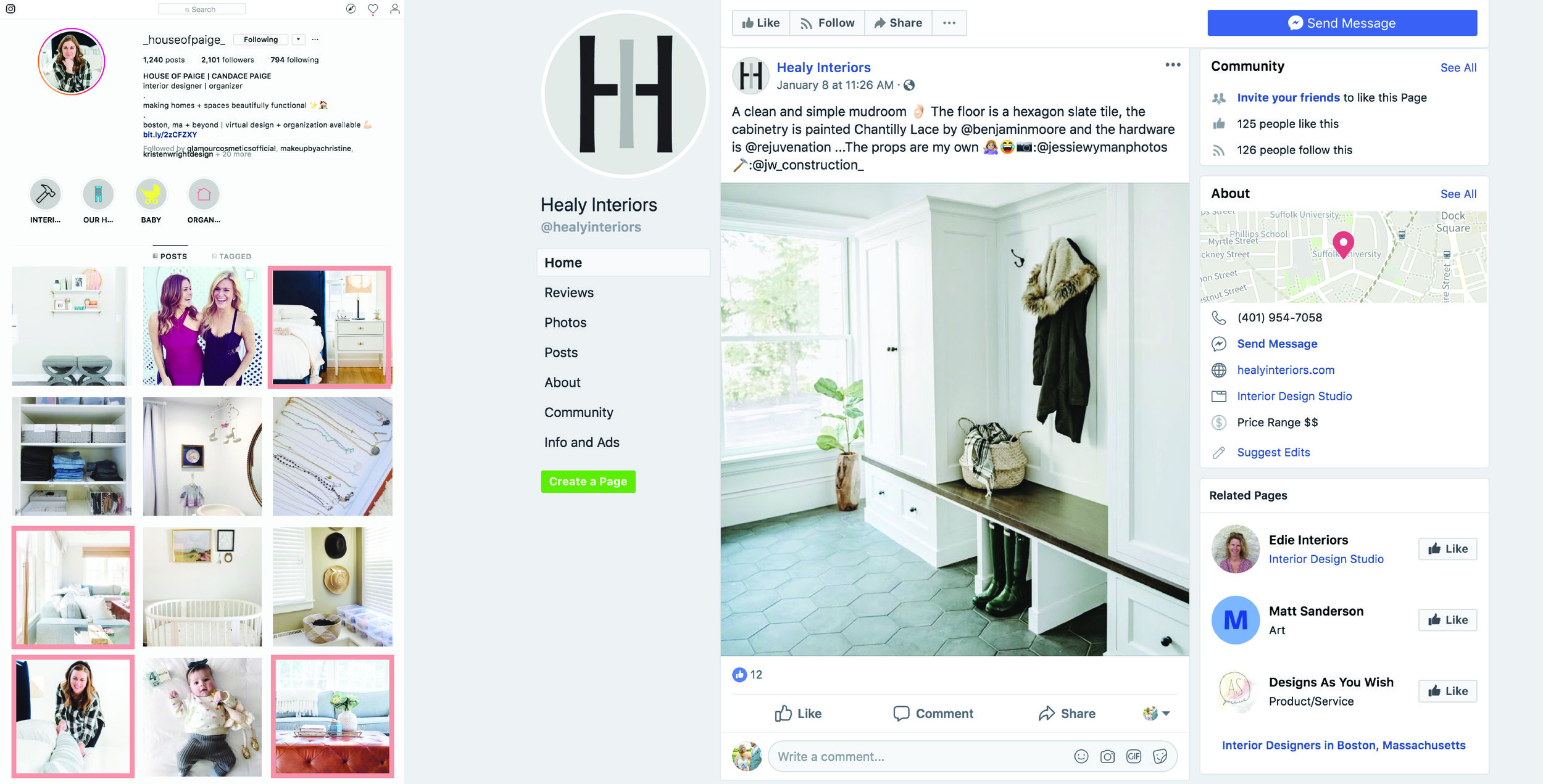 Facebook & Instagram -
