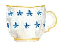 tea cup watercolor by Helen McLaughlin