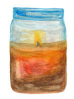 candle watercolor by Helen McLaughlin