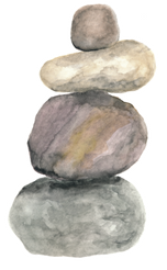 cairn watercolor by Helen McLaughlin