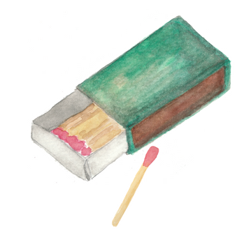 matchbox watercolor by Helen McLaughlin
