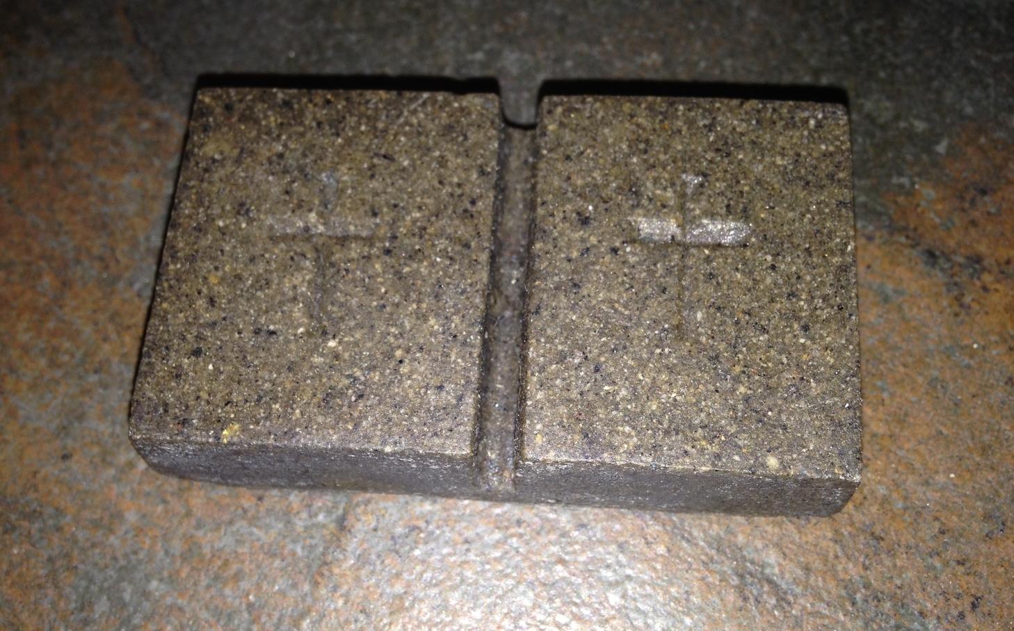 GraceStones  feature an embossed simple cross .