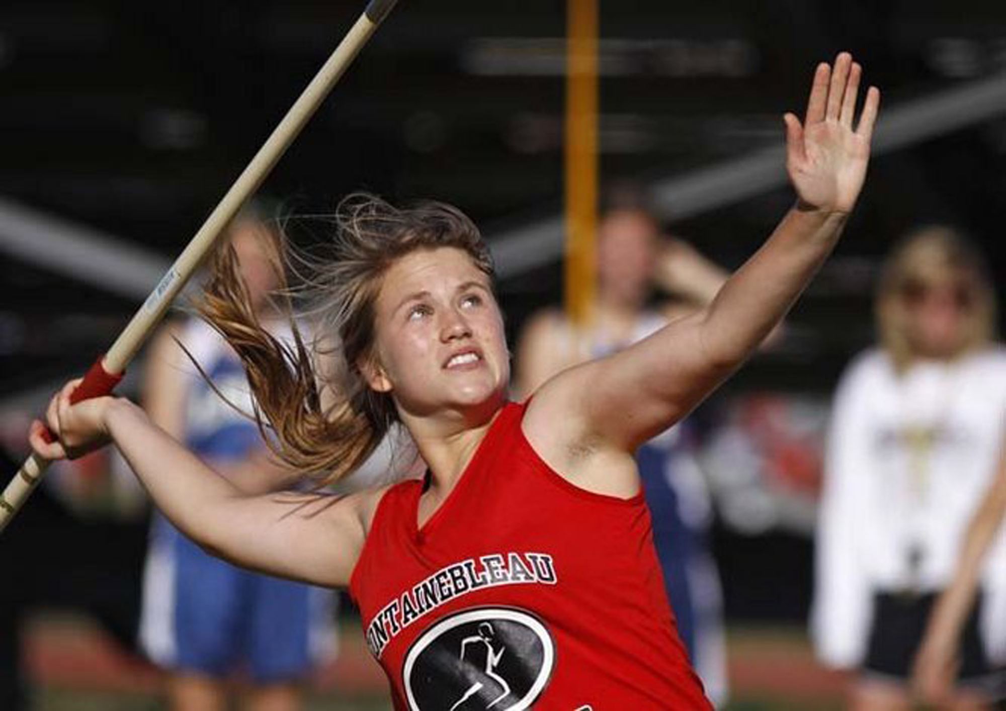 Fontainebleau H.S. javelin competition