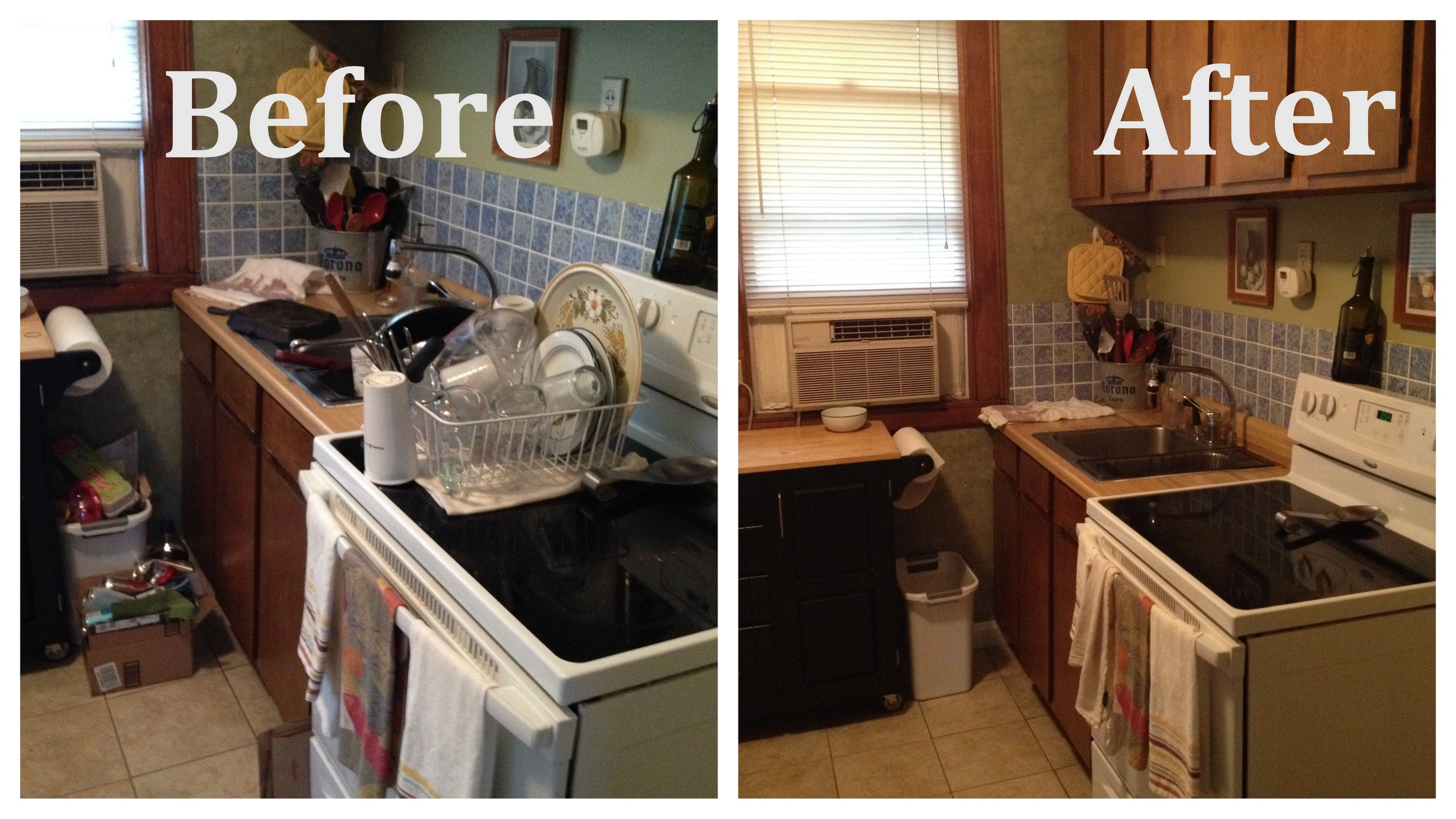 Before Home Inspection Prep   Vs.        After Home Inspection Prep
