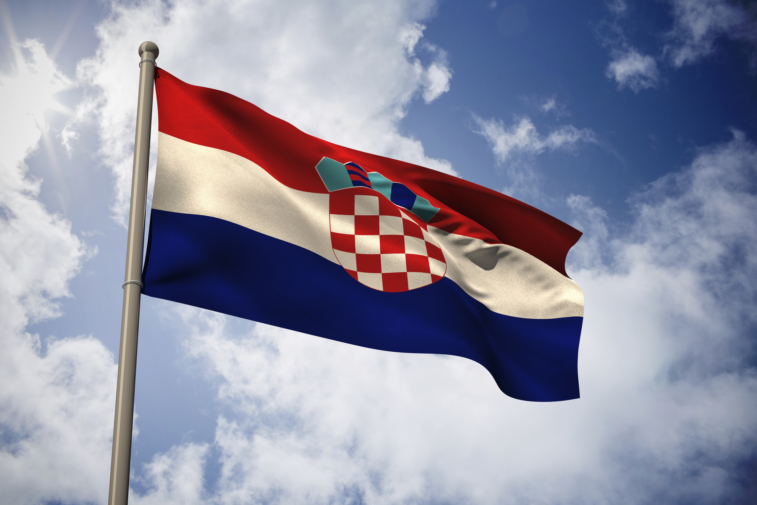 The Croatian flag. To add to the confusion over whether this podcast is about Croatia or not.