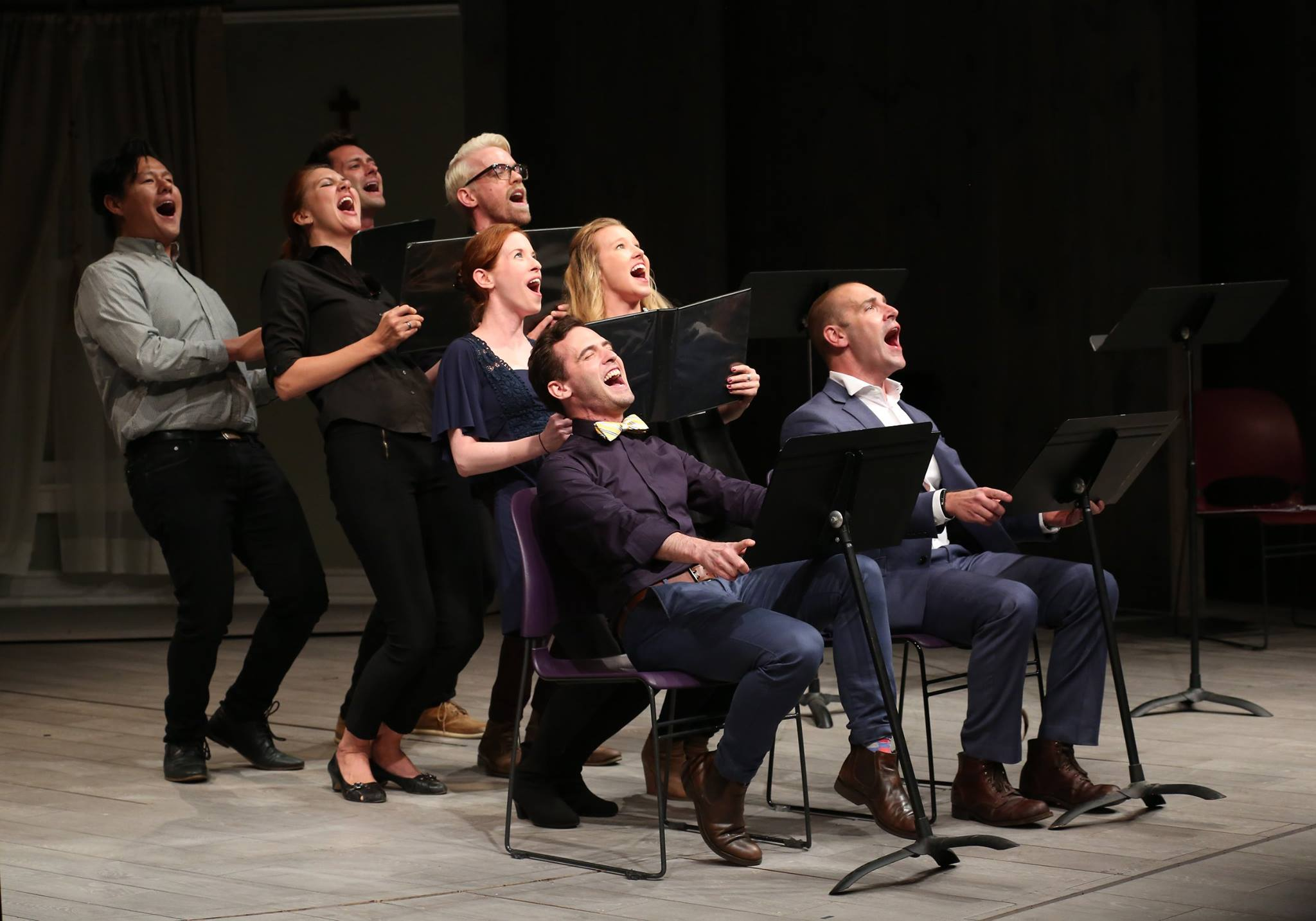Fantasy Falls  on Playwrights Horizons Mainstage, photo by Walter McBride
