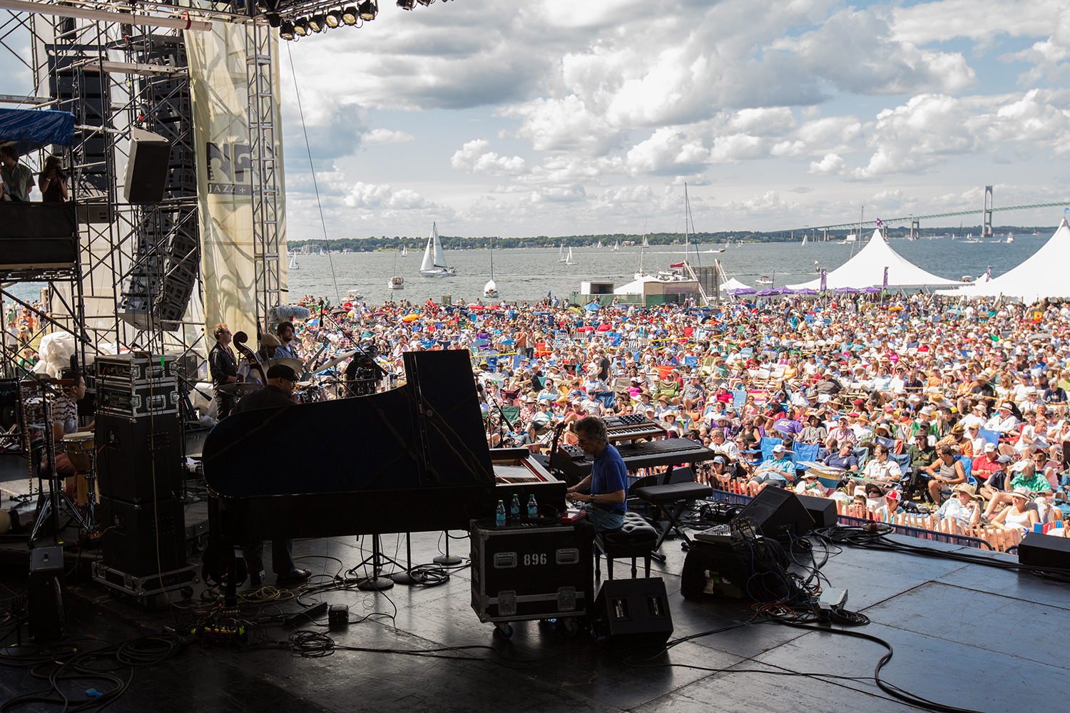 Chick Corea performing at the 2013 Newport Jazz Festival. Photo credit: Douglas Mason