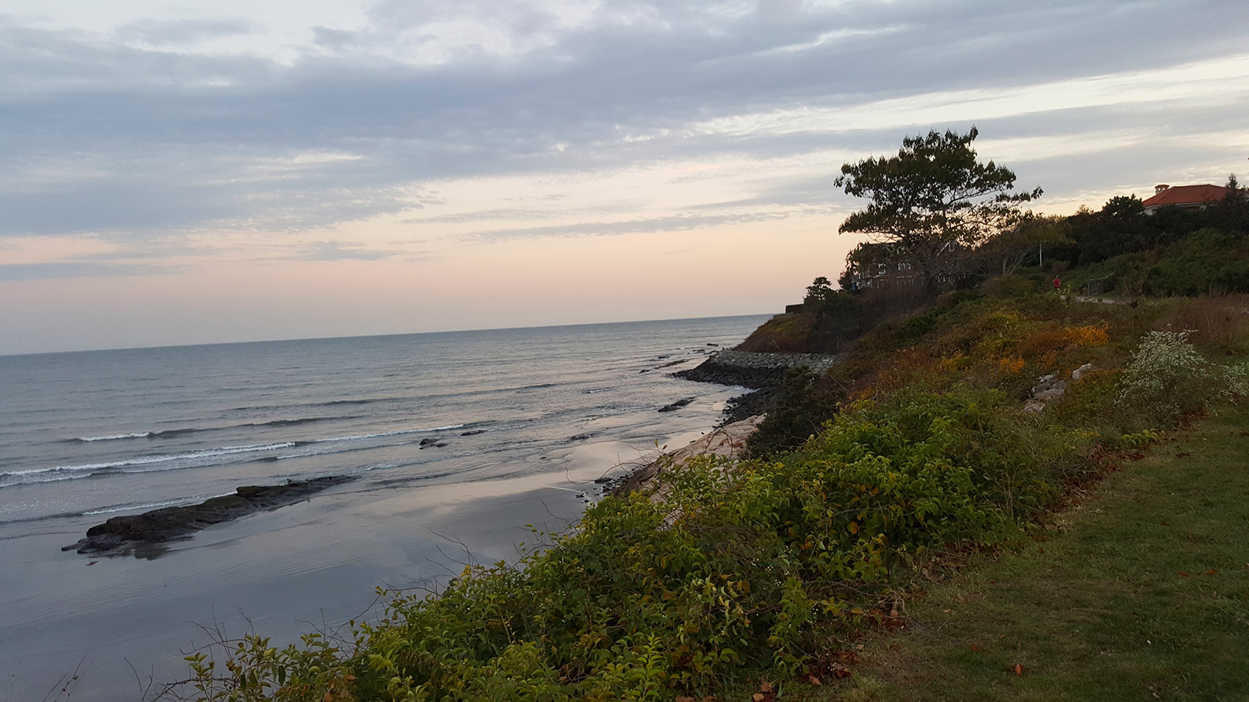 The Cliff Walk at sunset