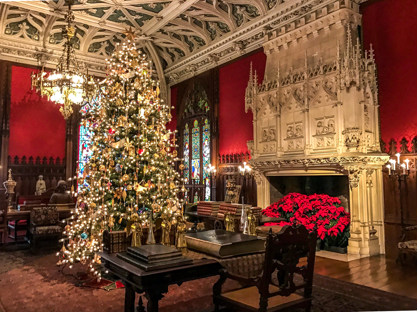 Marble House during Christmas