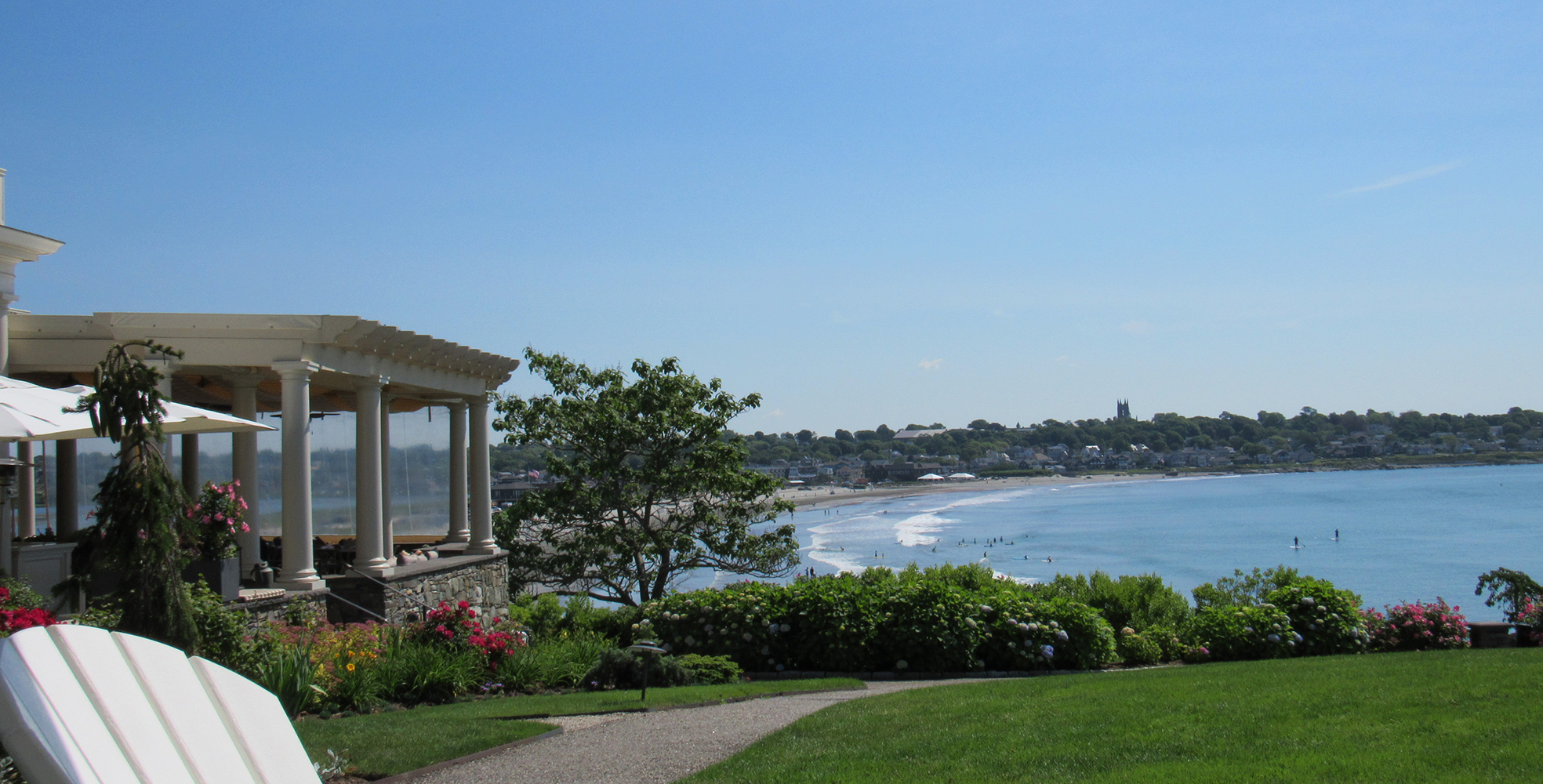 Easton's beach, view from the chanler lawn