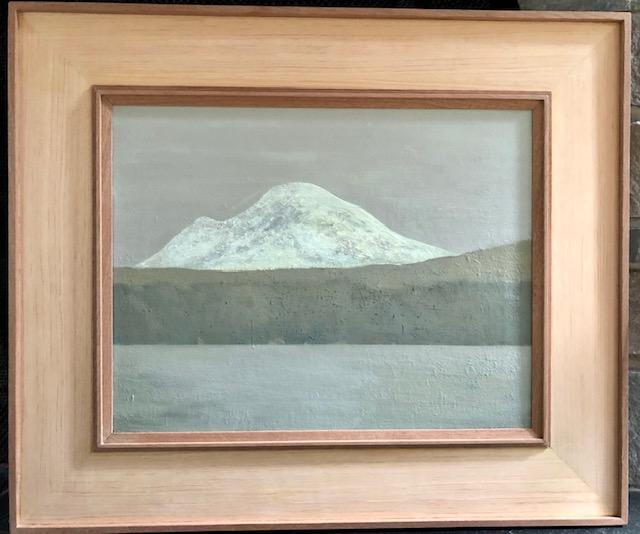 """Mt. Rainier From Lake Washington, Grey Day"""