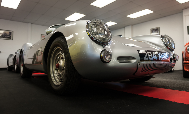 Desperately beautiful Porsche 550 Spyder Chamonix Replica