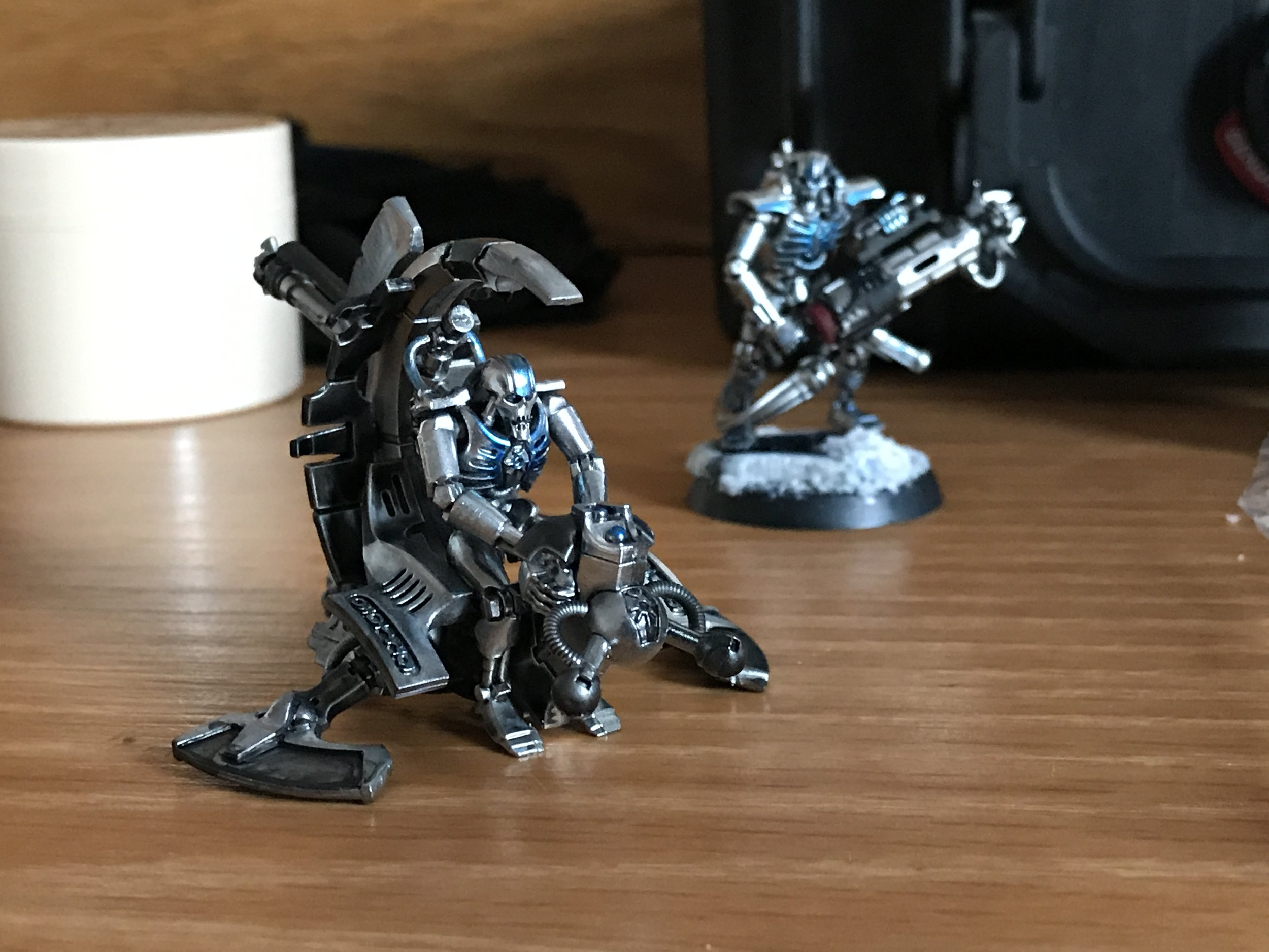 The Immortal sitting on my painting desk as inspiration, trying to find the right balance for the 'Blade