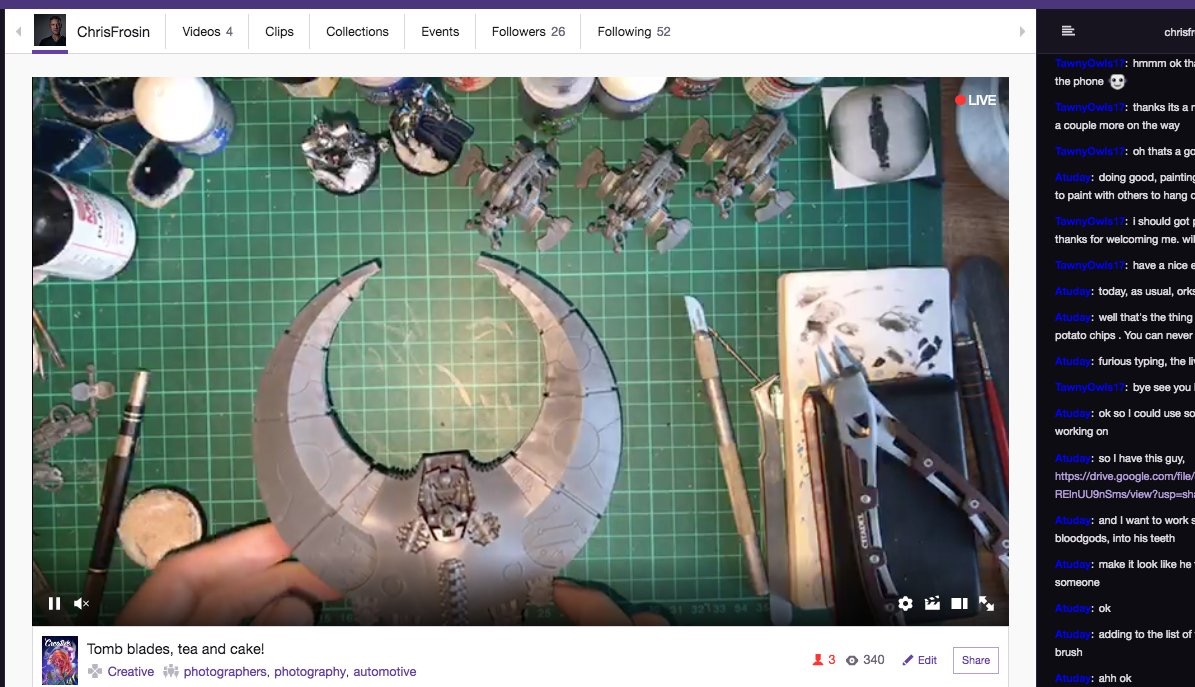 Live Twitch stream of a little Doom Scythe assembly and planning