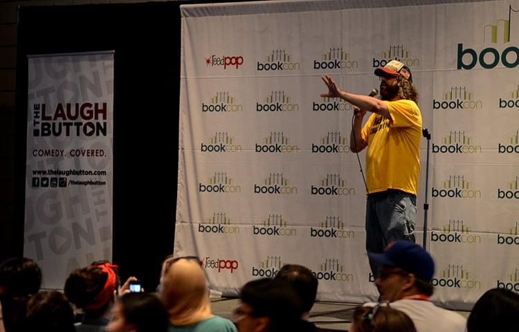 Judah Friedlander at The Laugh Button Live!, Book Con 2015 Photo: Matt Kleinschimdt