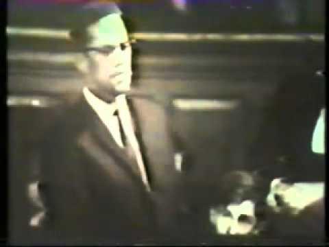 Malcolm X at Oxford Union .
