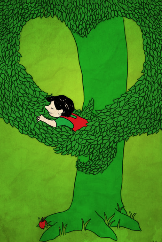 """""""When he is much older, after everything turns digital, he re-reads  The Giving Tree  and still adores it."""""""