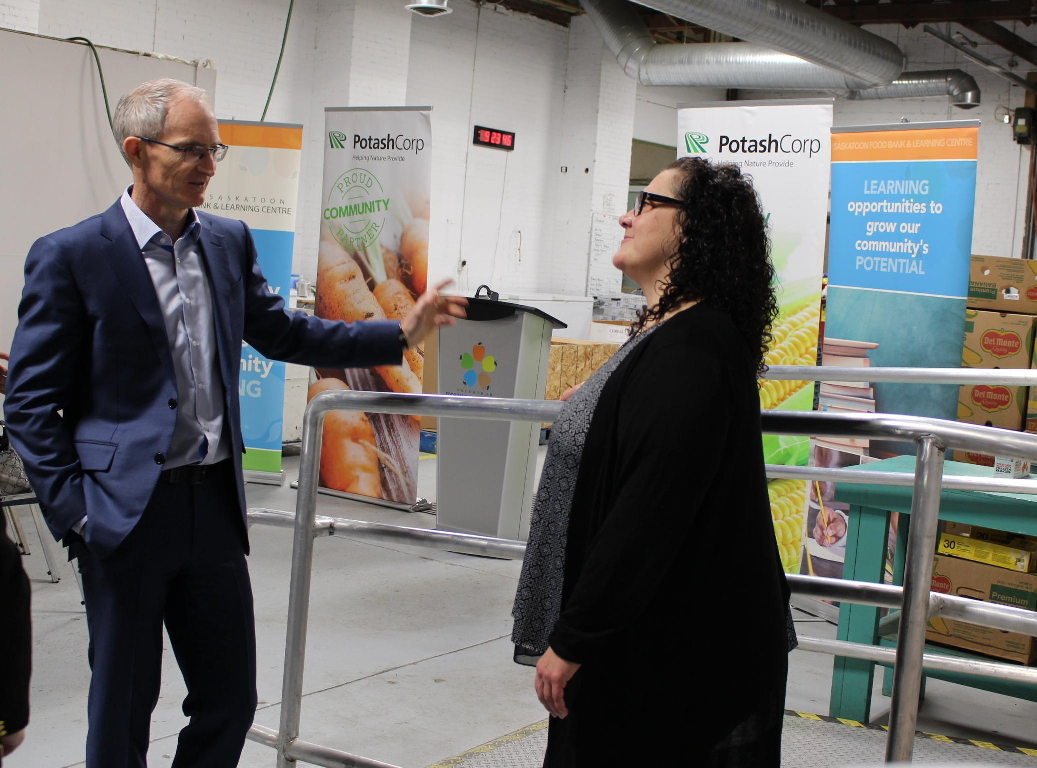 Jochen Tilk  President and CEO,PotashCorp and Laurie O'Connor  Executive Director, SFBLC  discuss the growing need for food banks in the province.