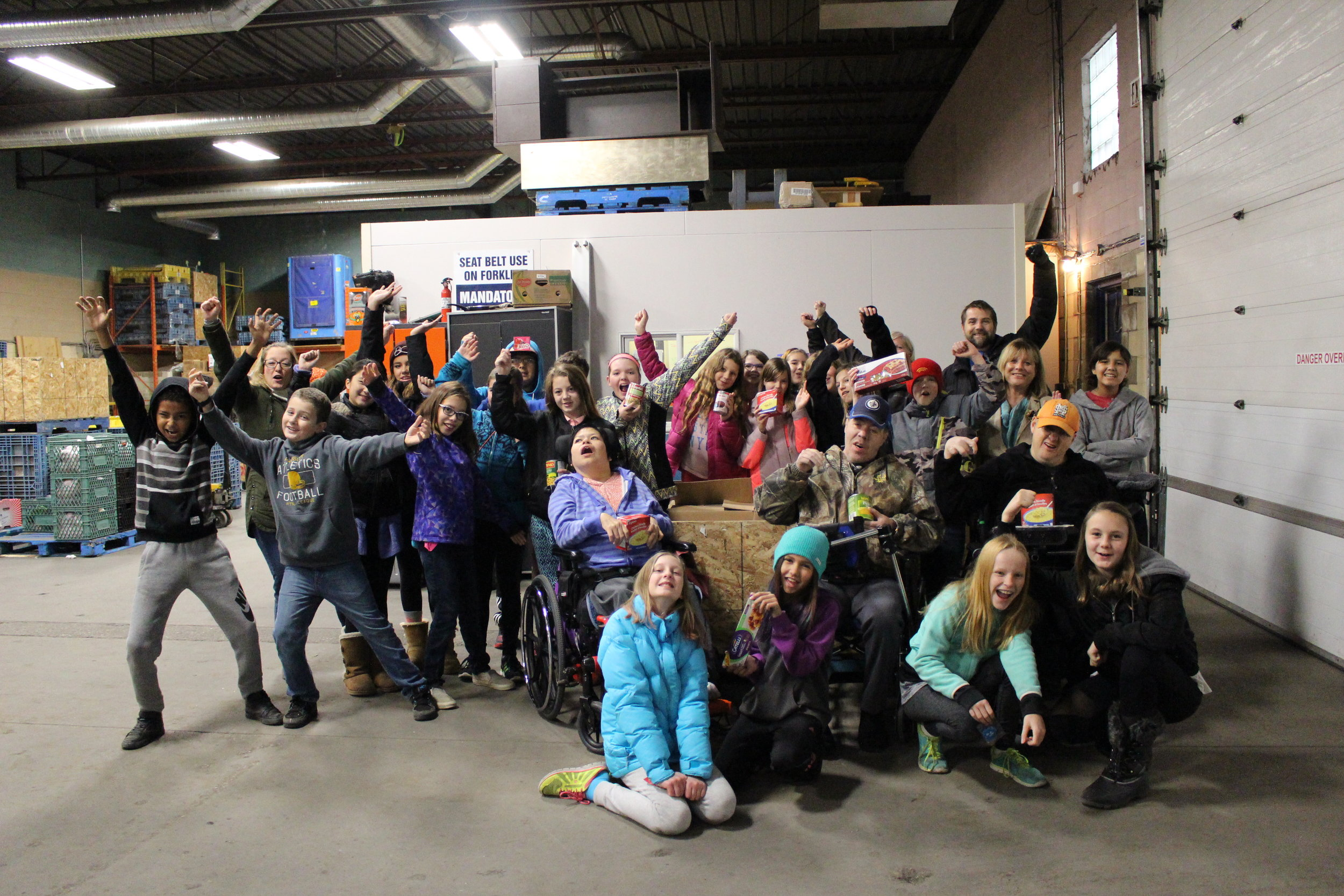 Sherbrooke Community Centre iGen  students delivered their We Scare Hunger donations!