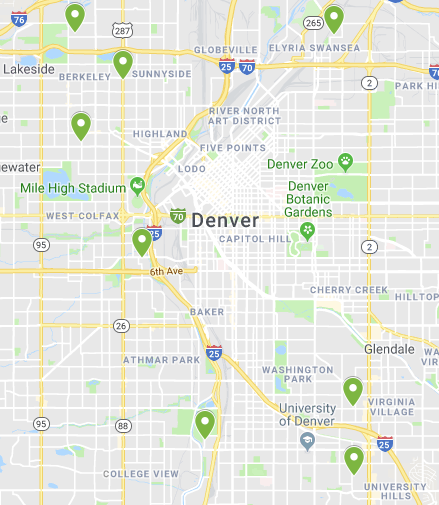 Locations Aqua Care Solar has serviced in Denver