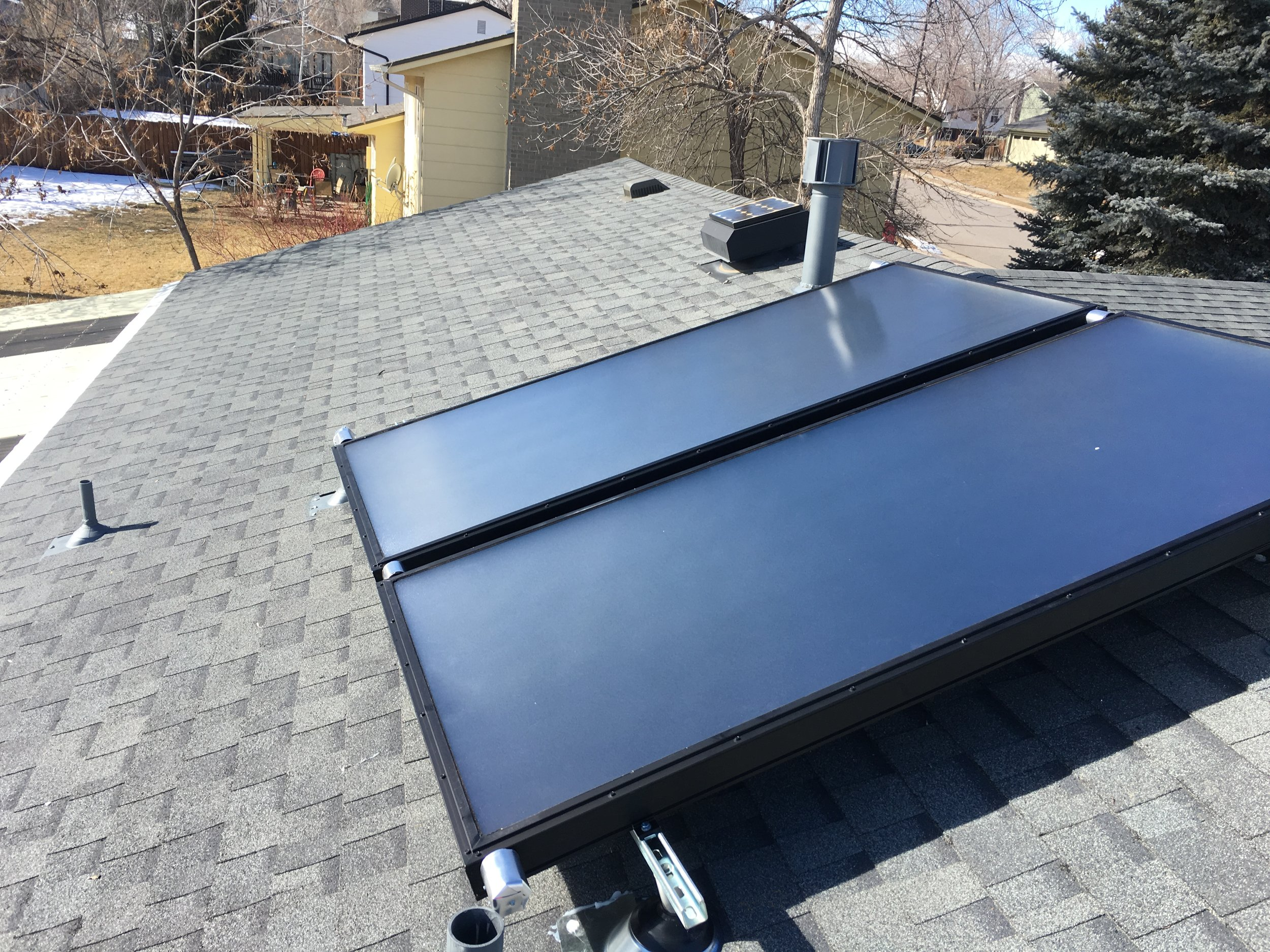 Upgraded solar thermal system in Louisville, Colorado