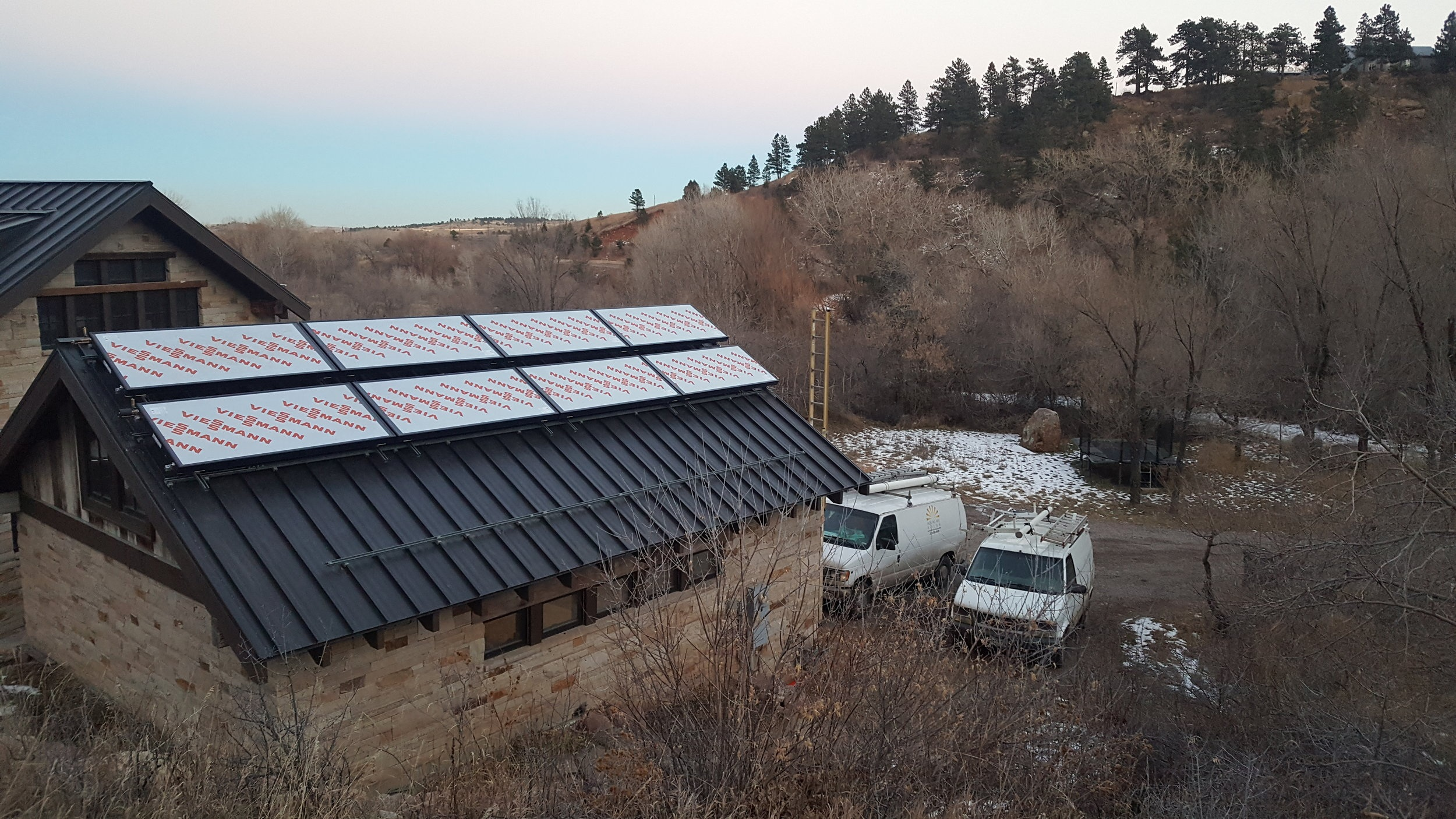 Viessmann solar thermal panels installed in Eldorado Springs, Colorado