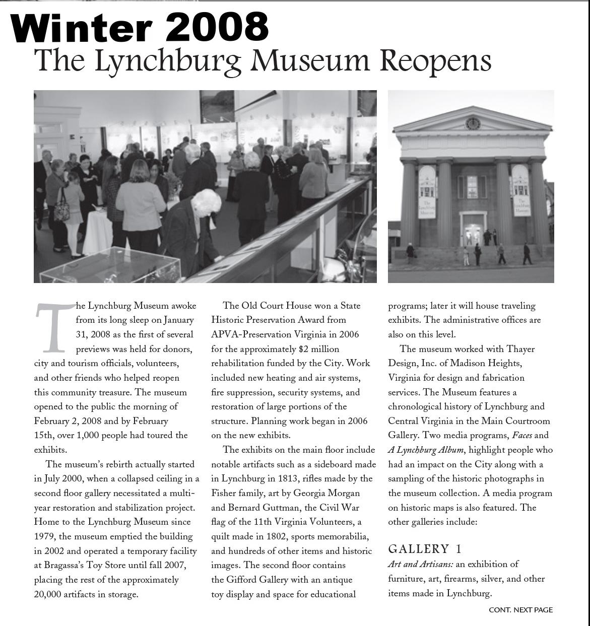 Muse News Winter 2008