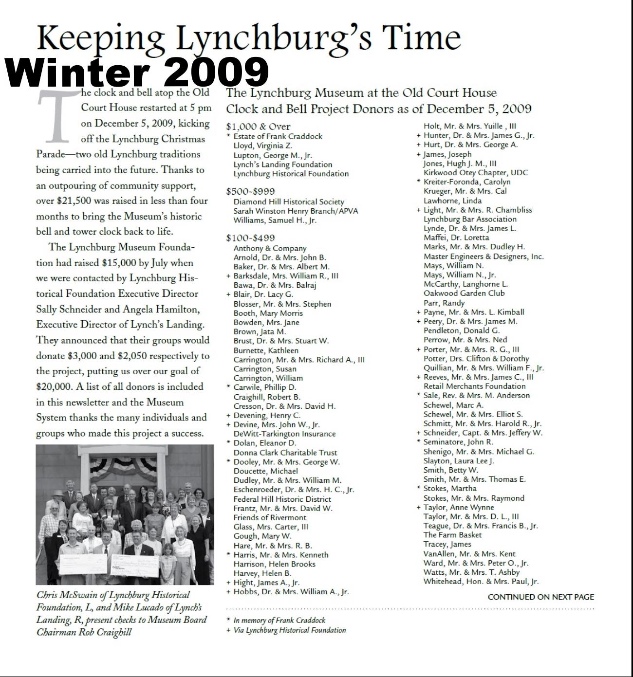 Muse News Winter 2009