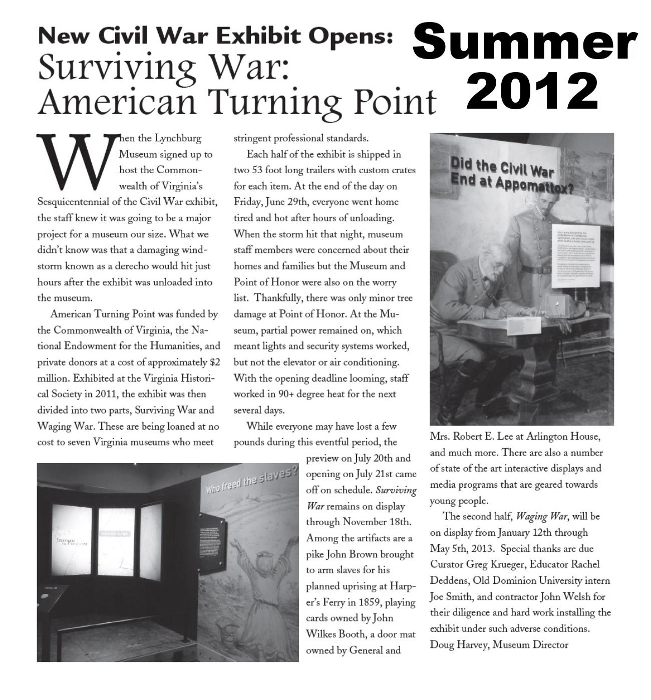 Muse News Summer 2012
