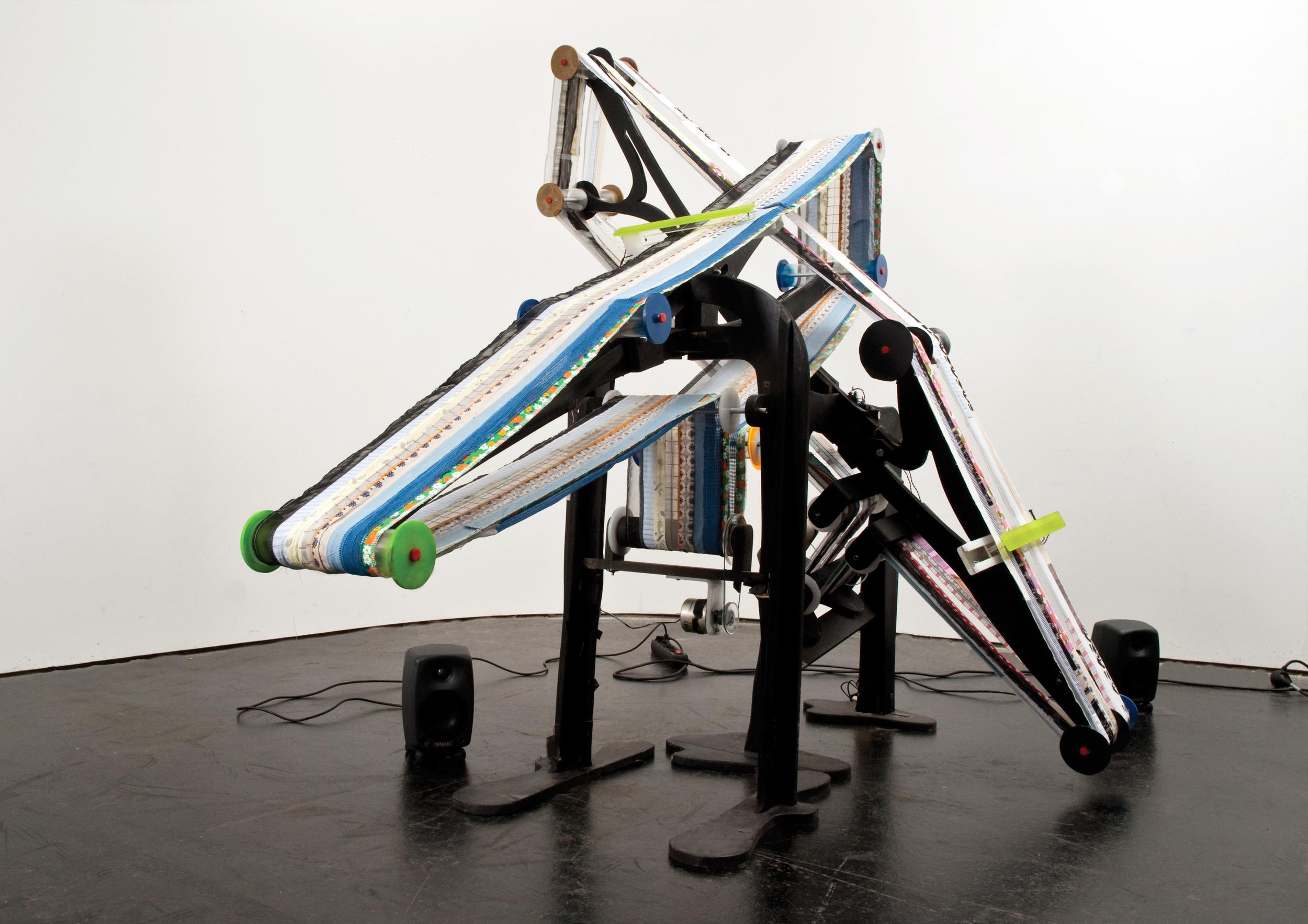 Kathrin Stumreich  Fabricmachine , sound installation and live performance, 2013  © Johannes Schrems