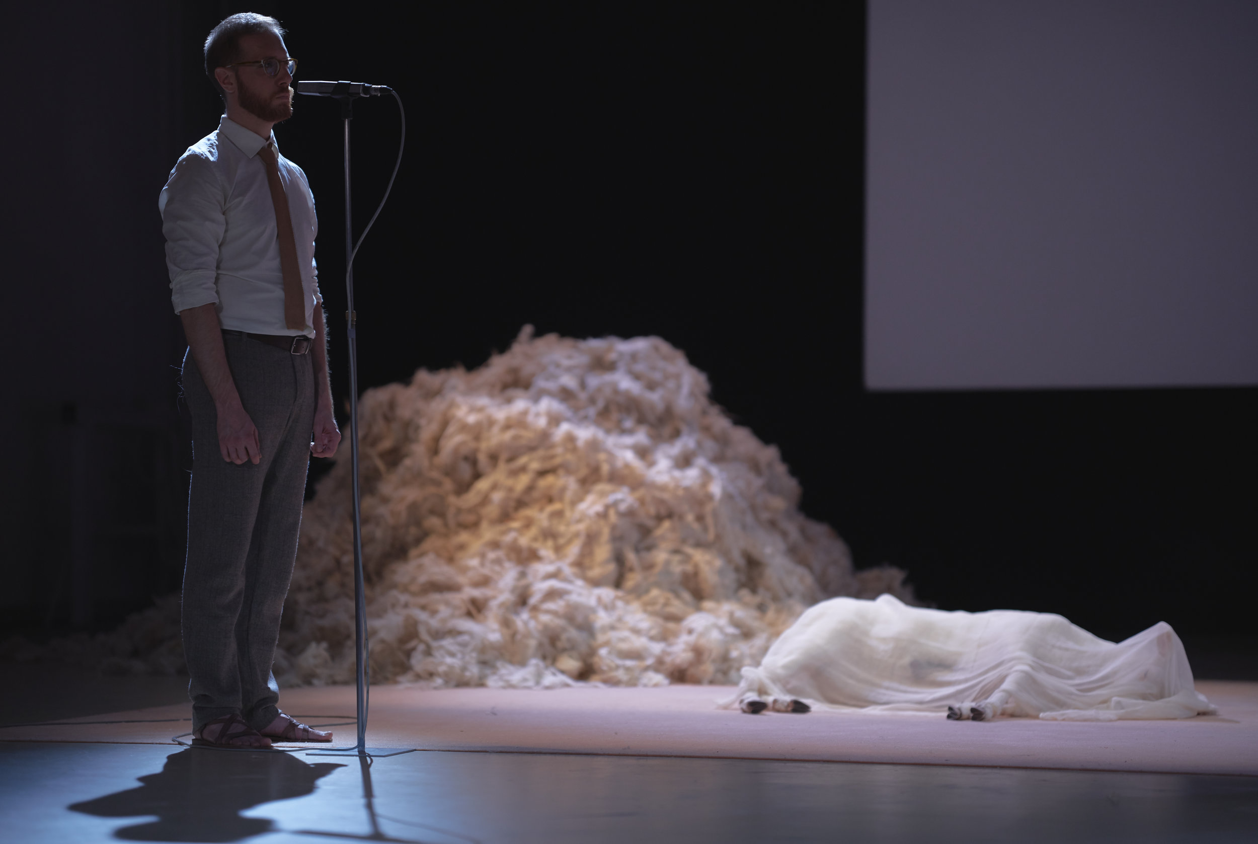 In 2018 Lottozero provided services to the theater company  Anagoor , sourcing specific wool materials for the scenography of their play ORESTEA / Agamennone, Schiavi, Conversio which won the  Silver Lion of the Venice Biennale.