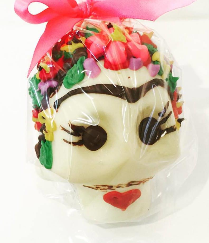 Frida inspired chocolate skull