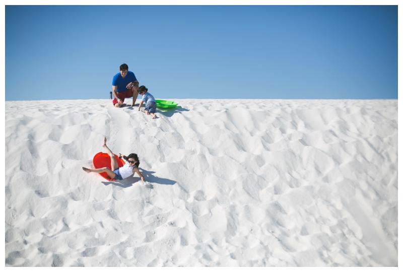 great white sands sledding