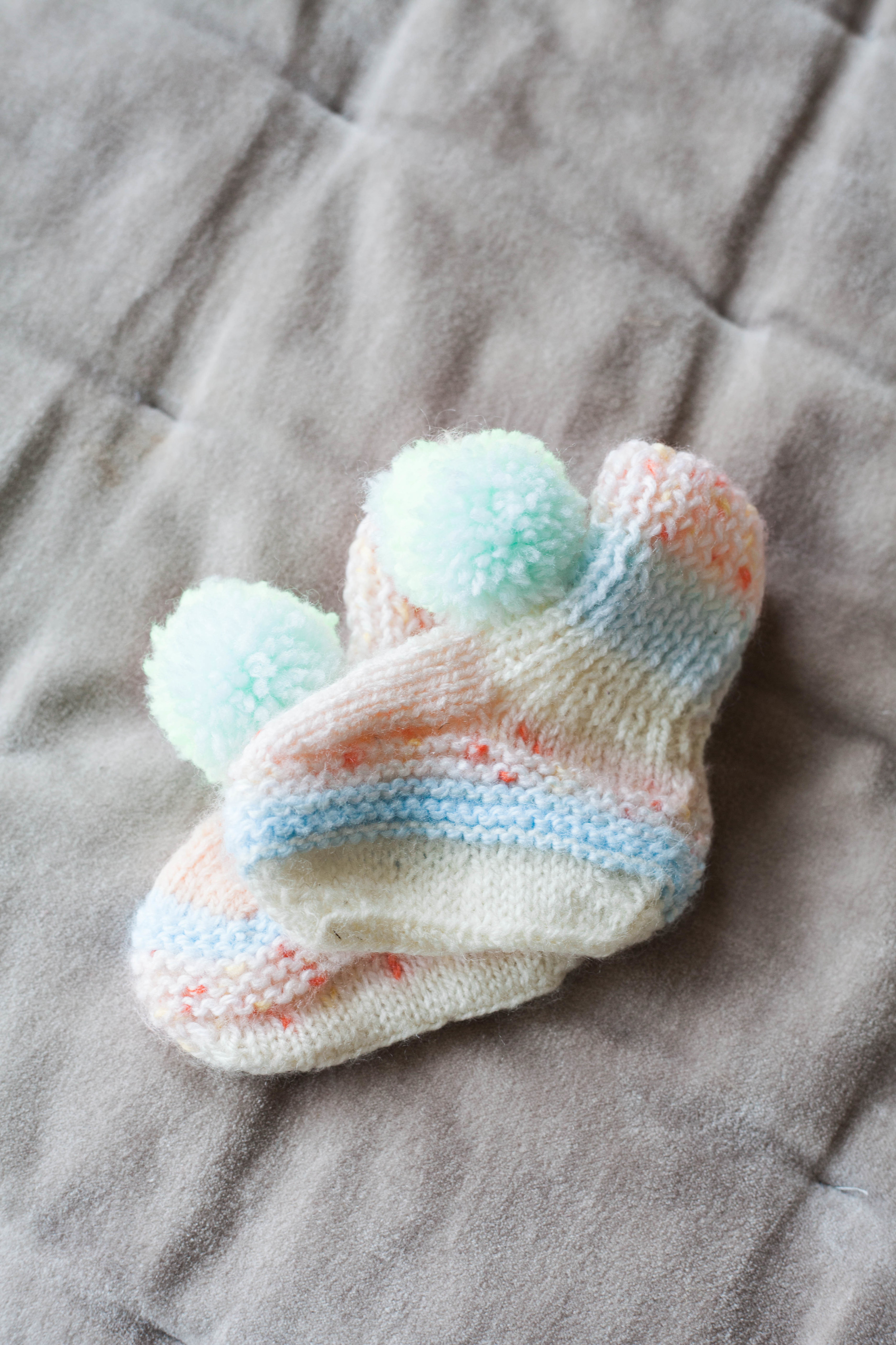 Knitted booties from FloraFairweather
