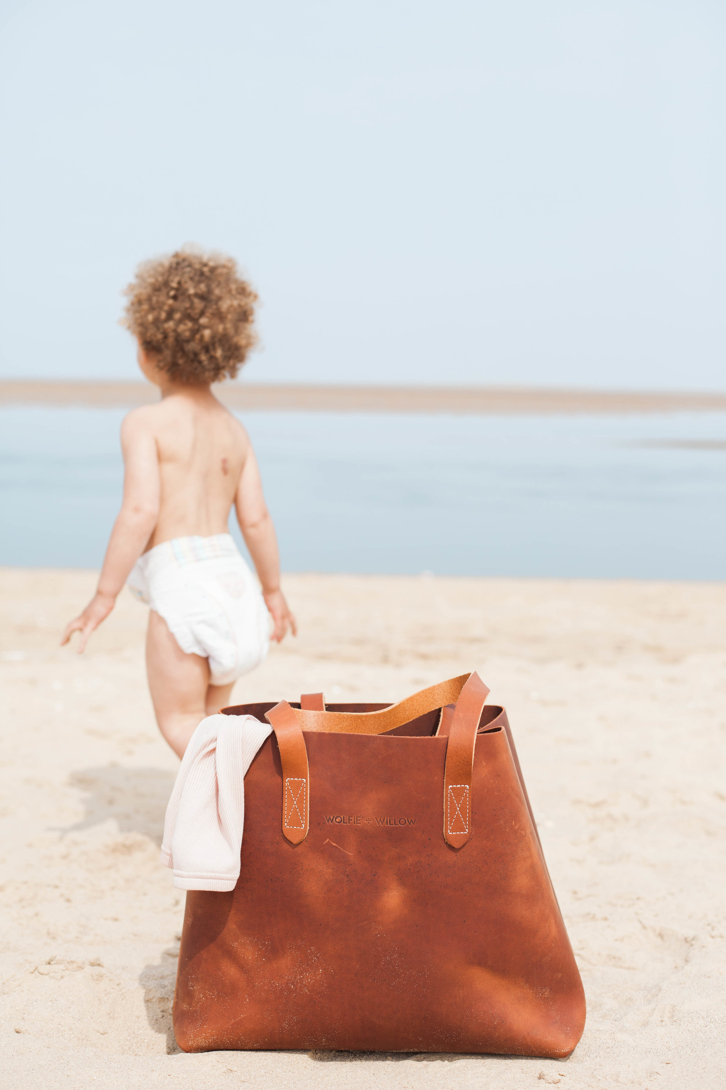 Wolfe + Willow leather tote bag