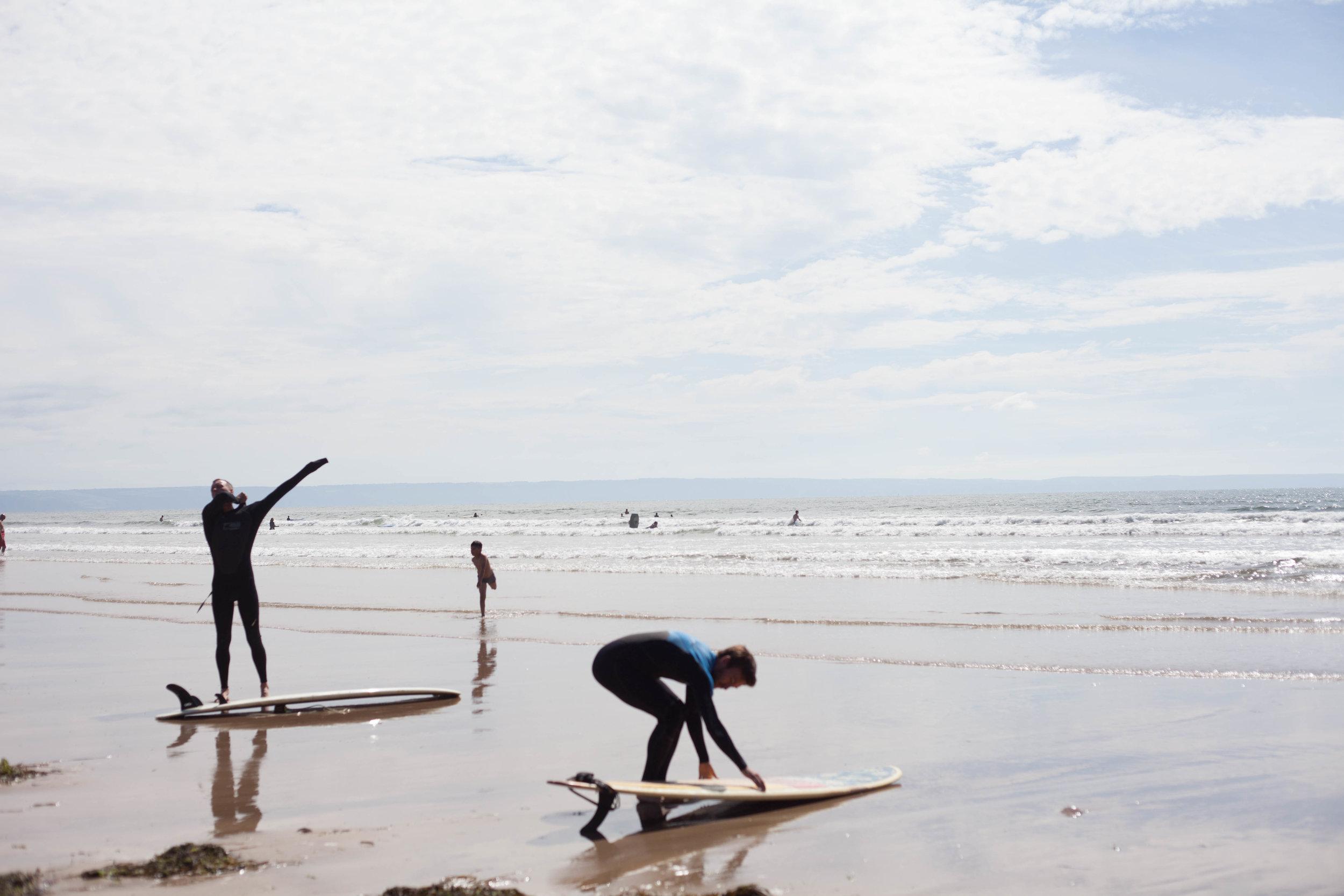 Surfing Saunton Sands