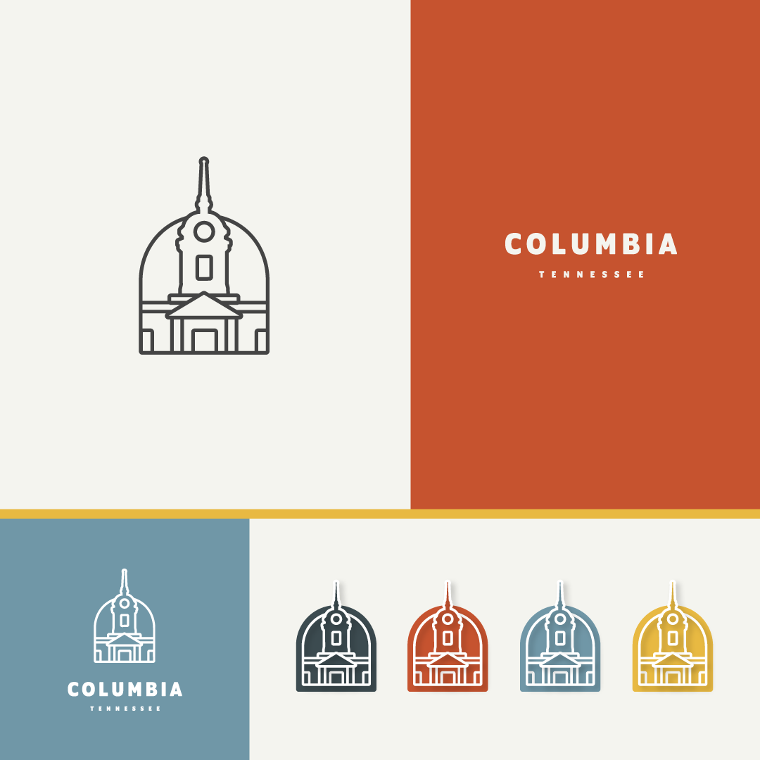 Logo for the City of Columbia, TN