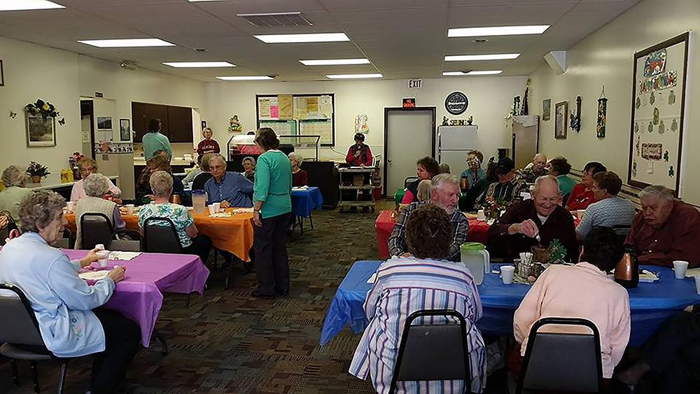 Patrons at Sterling Senior Center