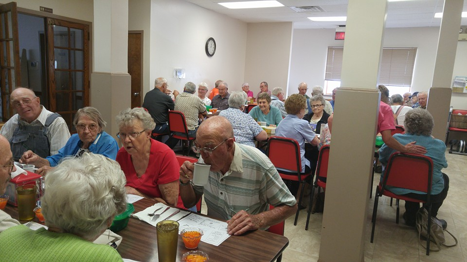Patrons at Table Rock Senior Center