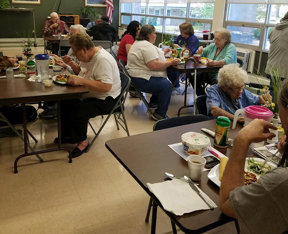 Enjoying a meal at Nebraska City Senior Center