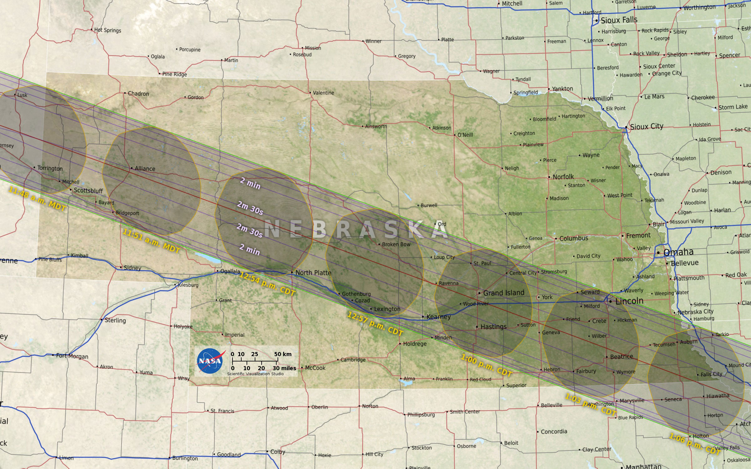 Map courtesy of nasa / eclipse2017.nasa.gov