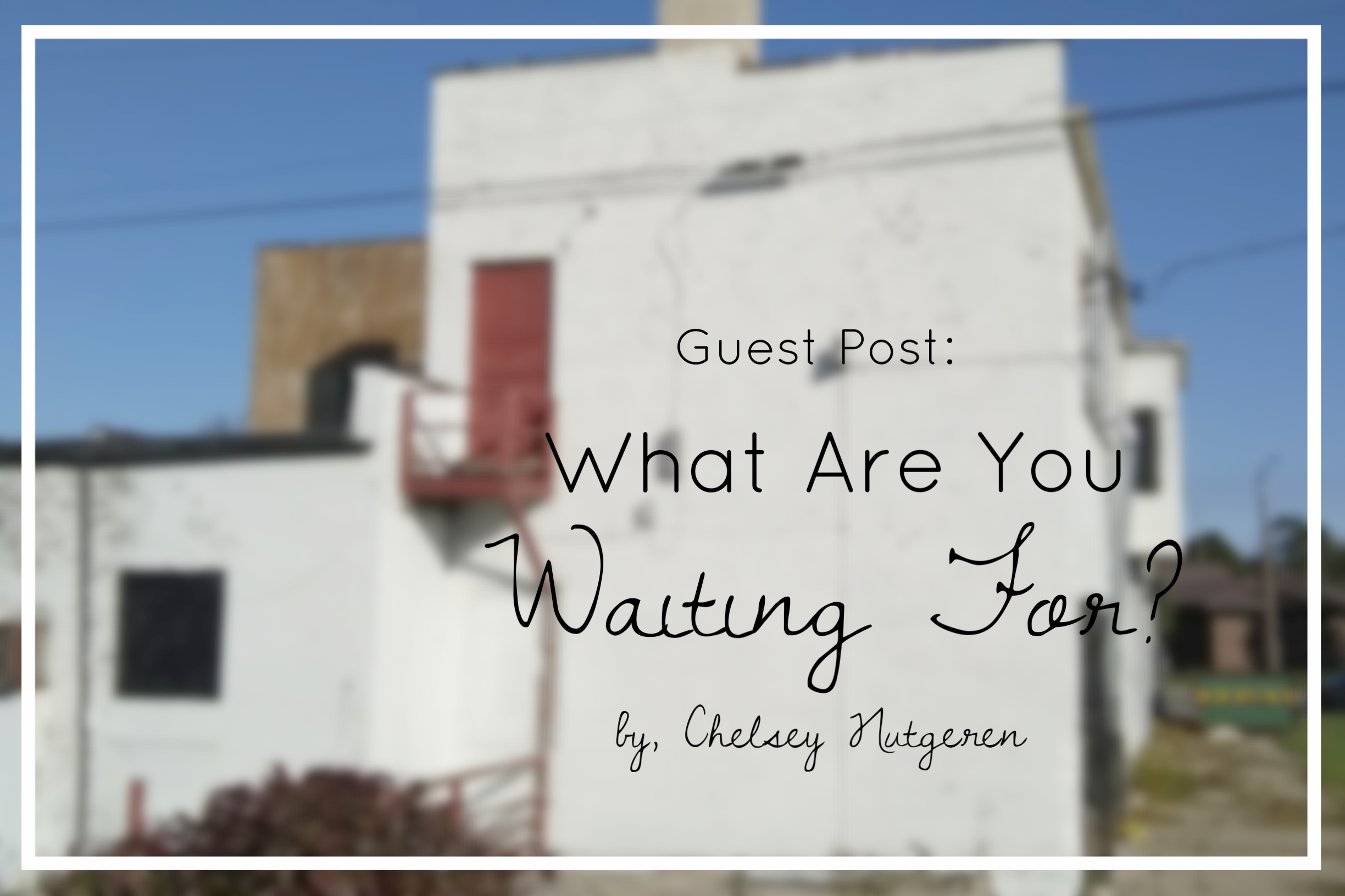 {Today's post was written by Chelsey Nugteren, the writer behind   Alive In Grace.     Chelsey is a wife, mom of two, writer, and dreamer learning the rhythm of life's ever-changing pace. I'm so grateful she was willing to share her wisdom for when we find ourselves in seasons of waiting. Advent, after all, is a season of exactly that. I know you will be encouraged by her words like I was. Be sure to check out more of Alive in Grace on   Facebook   and   Instagram  .     This Month's series is #IntentionalAdvent. If you missed the Advent Calendar that Chelsey and I created with scripture to memorize, acts of service to do, and ways to slow down this Christmas season, be sure to   download it through this link. }