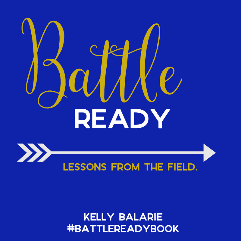 "(I am so excited to share today's guest post from Kelly Balarie, a true cheerleader of the faith! Be sure to also buy her new book, Battle Ready: Lessons From the Field, releasing TOMORROW!    I was honored to get a chance to write an endorsement for #BattleReadyBook, and this is what I declare about it: ""As I soaked up Battle Ready, I was struck by the everyday practicality of its message, as well as the nuggets of gold wisdom in each chapter. Kelly has a way of vulnerably sharing her own struggles, all while pointing readers to the never-fading truth of Scripture. This book is not just words on a page, it's an invitation to saturate our minds with the wisdom found in God's word. Battle Ready will encourage you to see yourself as God's beloved child, and it will inspire you to live boldly - like a warrior ready to follow Christ wherever He leads. You'll not only want to read this book; you'll want to mark it to death with a highlighter and pen.""}"
