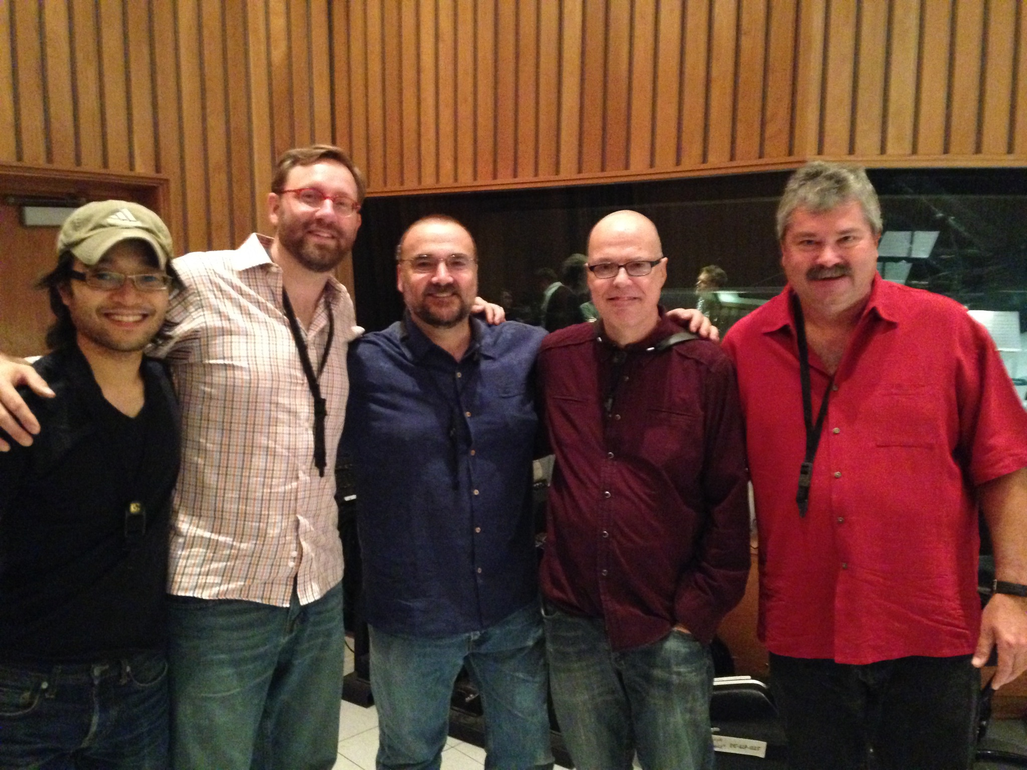 Eddy Mitchell Big Band  Sessions saxophone section: Ian Vo, Adam Schroeder, Jerry Vivino, Bob Sheppard, and Mike Nelson at Capitol Records - Hollywood, CA May 2015