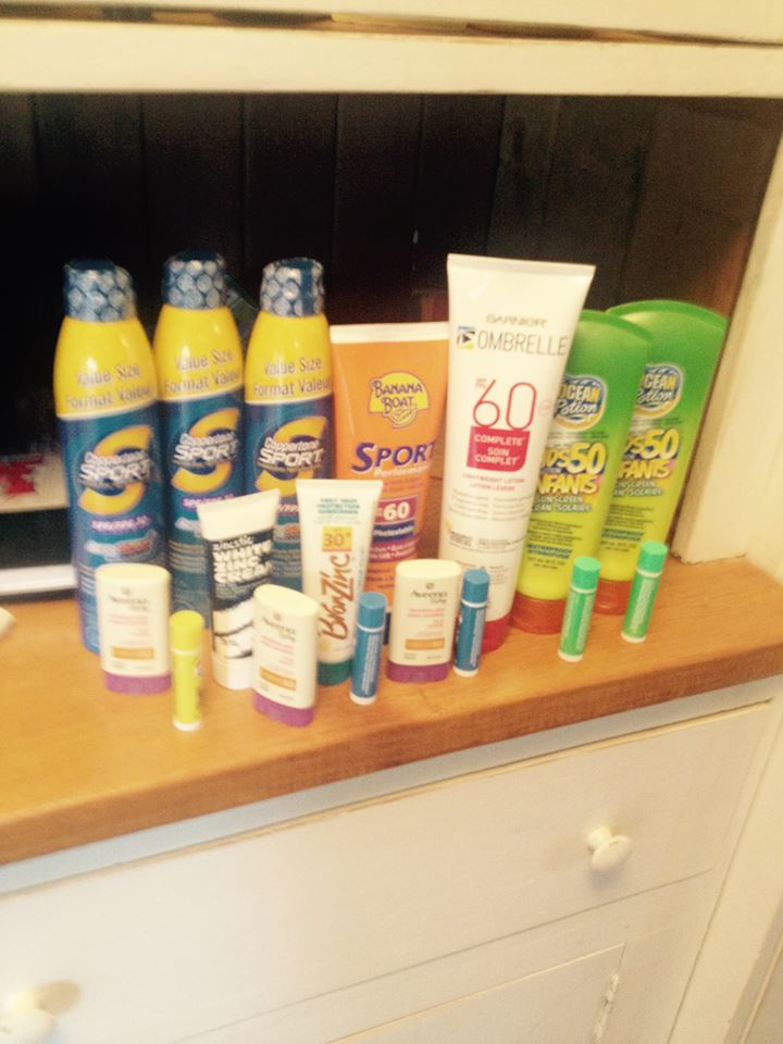 Coyle Family Sunscreen Stock for Costa Rica!